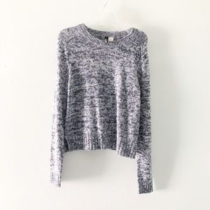 H&M Pullover Blue Marled Knit Sweater XS